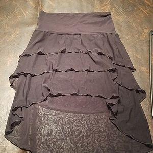 Black skirt beach cover up